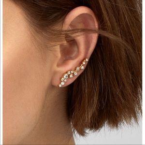 BAUBLEBAR Farrah Ear Crawlers earrings.